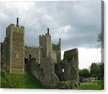 Castle Curtain Wall Canvas Print by Ann Horn