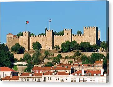 Castle De Sao Jorge, Lisbon, Portugal Canvas Print by Susan Degginger