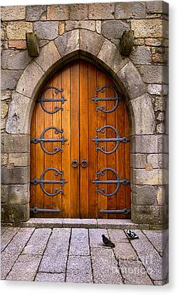 Medieval Temple Canvas Print - Castle Door by Carlos Caetano
