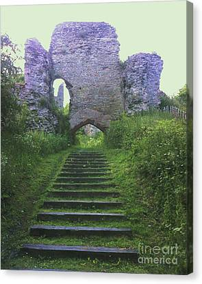 Canvas Print featuring the photograph Castle Gate by John Williams