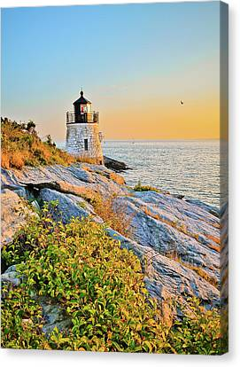 Castle Hill Lighthouse 1 Newport Canvas Print