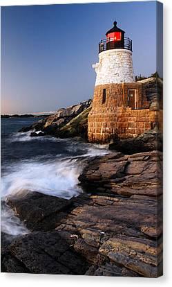 Castle Hill Lighthouse Dusk Canvas Print by James Kirkikis