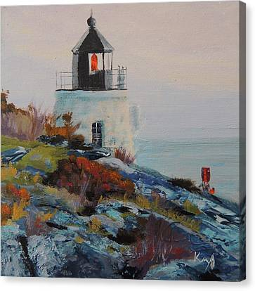 Castle Hill Lighthouse Newport Ri Canvas Print by Patty Kay Hall