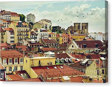Castle Hill Neighborhood Canvas Print by Carlos Caetano