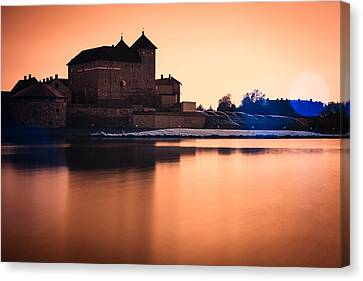 Castle In Artistic Infrared Image Canvas Print
