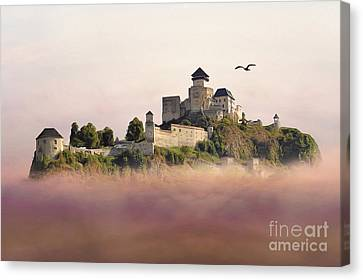 Castle In The Air IIi. - Trencin Castle Canvas Print by Martin Dzurjanik