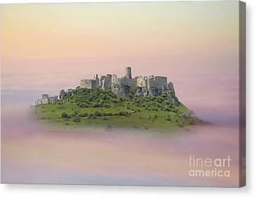 Castle In The Air. - Spis Castle Canvas Print by Martin Dzurjanik