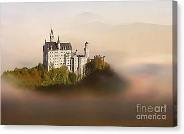 Castle In The Air Vi. - Neuschwanstein Castle Canvas Print by Martin Dzurjanik