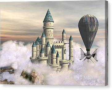Castle In The Clouds 2 Canvas Print by David Griffith