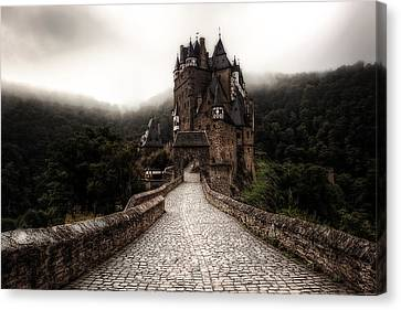 Castle In The Mist Canvas Print by Ryan Wyckoff