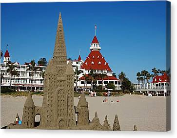 Castle In The Sand Canvas Print by See My  Photos