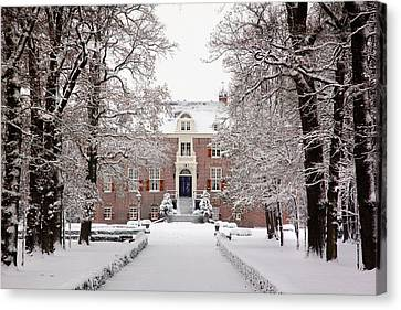 Canvas Print featuring the photograph Castle In Winter Dress  by Annie Snel