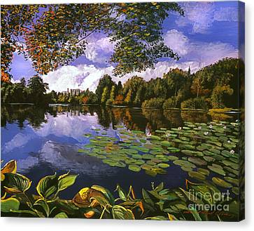 Castle Lake Canvas Print by David Lloyd Glover