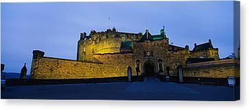 Medieval Entrance Canvas Print - Castle Lit Up At Dusk, Edinburgh by Panoramic Images