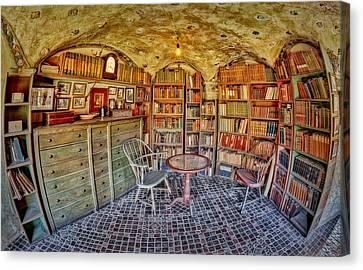Castle Map Room Canvas Print by Susan Candelario