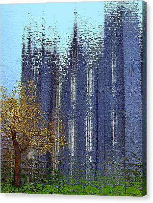 Canvas Print featuring the digital art Castle by Nina Bradica