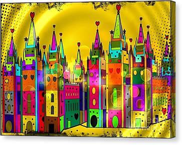 Castle Of Dreams By Nico Bielow Canvas Print
