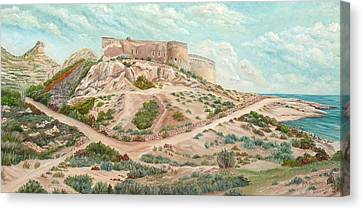 Castle Of Rodalquilar  Canvas Print by Angeles M Pomata