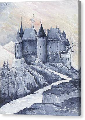 Castle Of The Carpathians Canvas Print by Monica Veraguth