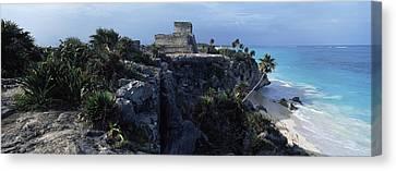 Castle On A Cliff, El Castillo, Tulum Canvas Print