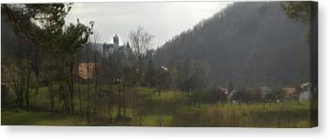Romania Canvas Print - Castle On A Hill, Bran Castle by Panoramic Images