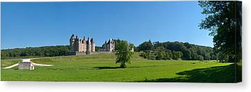 Castle On A Hill, Chateau De Canvas Print by Panoramic Images