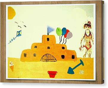 Castle On The Beach Canvas Print by Julie Dunkley