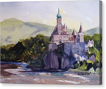 Castle On The Danube Canvas Print