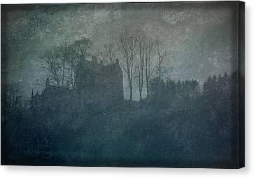 Castle On The Hill Canvas Print by Liz  Alderdice