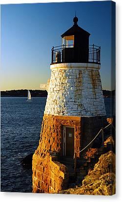 Castle Rock Lighthouse Canvas Print by James Kirkikis