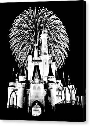 Castle Show Black And White Canvas Print