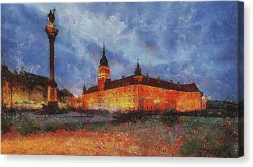 Castle Square In Warsaw Canvas Print by Maciek Froncisz