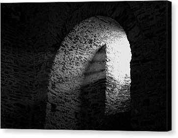 Castle Window Beams Canvas Print by Karl Greeson