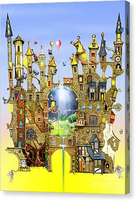 Castles In The Air  Canvas Print by Colin Thompson