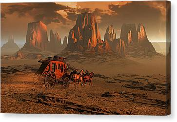 Castles In The Sand Canvas Print by Dieter Carlton