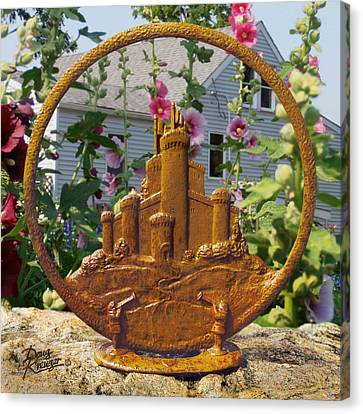 Canvas Print featuring the pyrography Castles In The Sky by Doug Kreuger