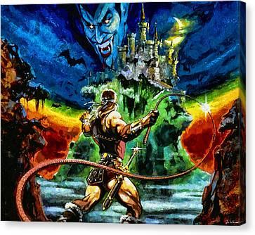 Castlevania Canvas Print by Joe Misrasi
