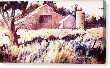 Castroville Barn Canvas Print by John  Svenson
