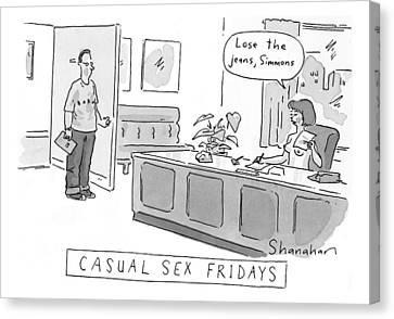 Casual-sex Fridays Canvas Print by Danny Shanahan