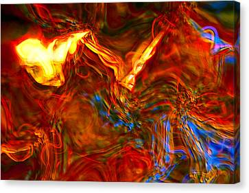 Canvas Print featuring the digital art Cat And Caduceus In The Matmos by Richard Thomas