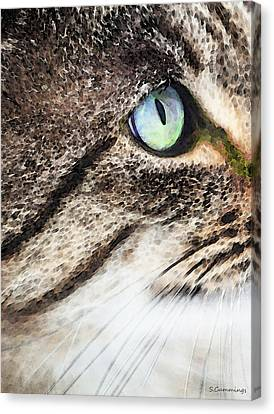 Cat Art - Looking For You Canvas Print by Sharon Cummings