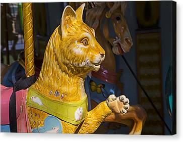 Cat Carrousel Ride Canvas Print by Garry Gay