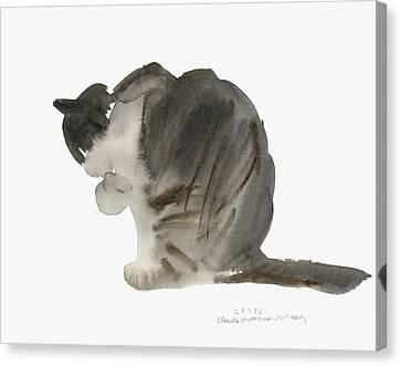 Cat Canvas Print by Claudia Hutchins-Puechavy