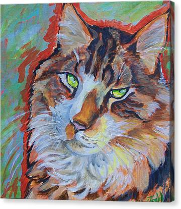 Cat Commission Canvas Print by Jenn Cunningham