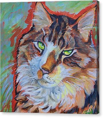 Cat Commission Canvas Print by Jenn Cunningham