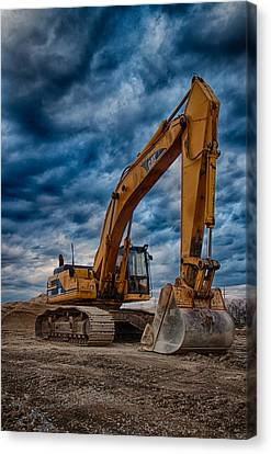 Cat Excavator Canvas Print by Mike Burgquist
