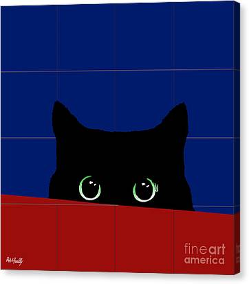 Cat Eyes Canvas Print by Roby Marelly