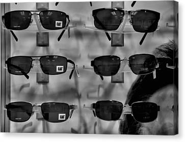 Canvas Print featuring the photograph Cat Glasses And Izod by Bob Wall