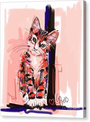 Cat I See You Canvas Print by Go Van Kampen