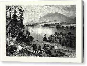 Thomas Moran Canvas Print - Cat Mountain, Lake George Usa by American School